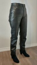 WOMEN'S LEATHER PANTS BLACK - REAL LEATHER (LAMB) - VERY SOFT (High waste)