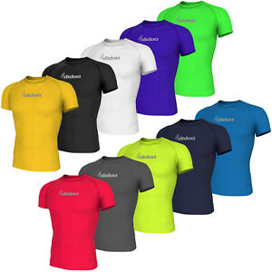 Didoo Mens Short Sleeve Base Layer Cycling  Compression Top Riding Gym T Shirts