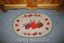 Jute Apple Oval Area Rug Country Kitchen 31x19