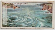 A Whirlpool Is Opposing Currents Of Swirling Water 90+ Y/O Ad Trade Card