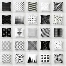 Cover Throw White Case Dazzling Cushion Pillow Black  Decor Geometric Square