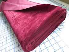 BTY Vintage Heavy Upholstery Drapery Fabric 52W Deep Wine         Z18