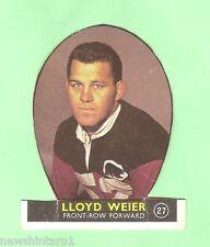 #D177. CUT 1968 SER. 1  SCANLENS RUGBY LEAGUE CARD #27 LLOYD WEIER, NORTH SYDNEY