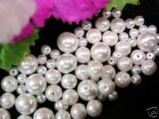 75 GLASS PEARL BEADS, WHITE, MIXED 4,6,8mm, ideal for bracelet, necklace, anklet