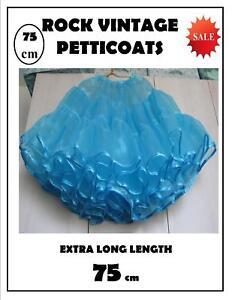 50s Rock n Roll Swing 75cm Blue Petticoat clearance