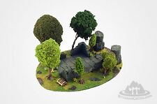 Wargame scenery MAGICAL FOREST - 6 trees - Warhammer Hobbit - 28mm painted