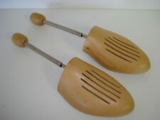 WOODEN SPRING SHOE TREES STRETCHERS SHAPERS SIZE MENS SMALL W GERMANY