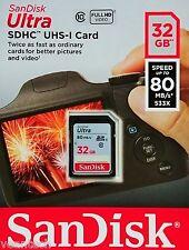 Sandisk Ultra 32GB SD SDHC 80MB/S class10 32GB SD SDHC Speicherkarte NEU&OVP