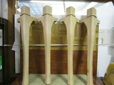 Set of 4 Unfinished Cherry Queen Anne Style Dining Table Legs