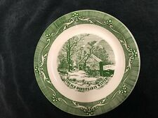 """Vintage Royal China """"Currier & Ives� Pie Plate - The Old Homestead in Winter"""