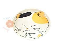 Japanese Dinner Serving Plates Round Lucky Cat Maneki Neko Kawaii Plate Dish NEW