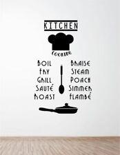 Pegatinas y plantillas de pared de palabras y frases para la cocina