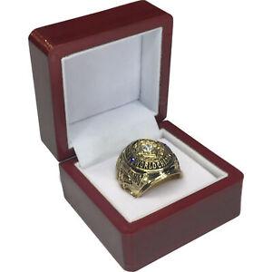 1958 Baltimore Colts NFL Super Bowl 18k GP Brass Championship Ring & Wood Box