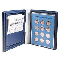 Franklin Mint American Legion Great American Victories 24 Bronze Medals Set