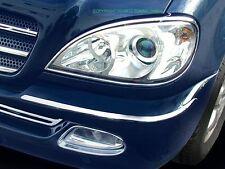 Mercedes w163 CHROME Headlight Frame Accent Rings head lamp trim ML-class