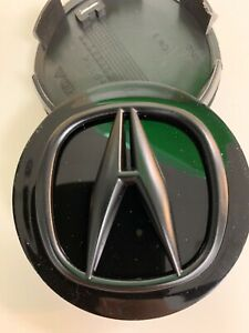 ACURA Wheel Center Cap RL CL TL RDX MDX TSX BLACK 69 MM 4 PC LIKE NEW 99.99%