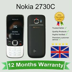 Nokia 2730 classic 2730 2730c 2'' keys mobile phone black and silver 2G Unlocked
