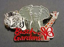 "Vintage Busch Gardens Tampa Pin ""Giraffe, Elephant, White Tiger"""