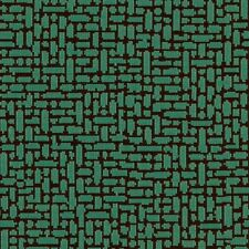 Arc/com Great wall Jade Green and black modern shapes Upholstery Fabric