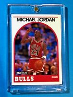 Michael Jordan NBA HOOPS AUTHENTIC ORIGINAL 1989 CHICAGO BULLS CARD - Nice!