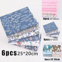 100% Cotton Craft Fabric Fat Quarter Bundle Quilting Patchwork Floral Flowers