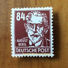 EBS East Germany DDR 1952 August Bebel 10Pf MNH Michel 341v** cv $129.00