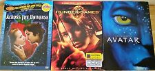 Lot of 3 DVD's Avatar, Hunger Games, Across the Universe. Deluxe Ed. FREE SHIP