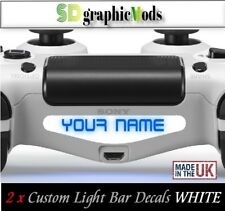 PS4 Controller Light Bar Decal Custom Personalised Vinyl Your name white