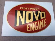 Frost Proof Novo Decal 5 3/4 x 4 Gas Engine Motor Flywheel