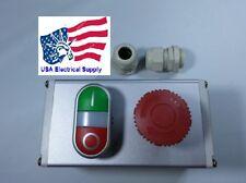 New Push Button Switch Station Emergency, Start Stop (Light 12/24VAC/DC)