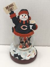 Chicago Bears Stadium Snowman Snow Globe Fourth in a Limited Series NFL USED