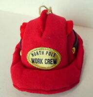 North Pole Work Crew Cap Hat Christmas Ornament