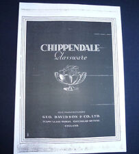 Chippendale Glassware 1930's Catalogue