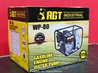 "AGT WP-80 Portable 3"" Water Pump 7.5 HP Gas Engine Electric Start bidadoo -New"