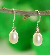 925 Sterling Silver Genuine Cultured Freshwater 12mm Pearl Earring (ER120)
