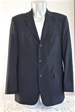 HUGO BOSS rossellini/movie veste de costume noire rayée bleue stretch T 50 NEUVE