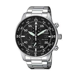 Citizen Crono Aviator Men's Eco Drive Chronograph Watch - CA0690-88E NEW