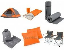 Camping Dome Tent Bundle Outdoors Backpacking Chairs Sleeping Bags Starter Kit