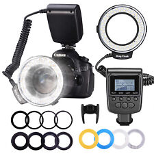 Neewer Macro LED Ring Flash Kit with 8 Adapter Rings for Nikon Canon Camera