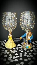 Disney Beauty And The Beast Figure Wine Glasses