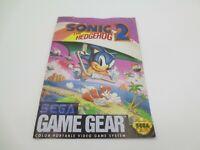 Sonic the Hedgehog 2 (Sega Game Gear) Manual