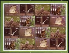 TONGA NIUAF'OU UNISSUED SET OF FOUR OWLS STAMPS IN MINATURE SHEETLET MINT NH