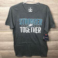 Fanatics Mens Medium Charcoal Grey NFL Philadelphia Eagle Stronger Together T-Sh