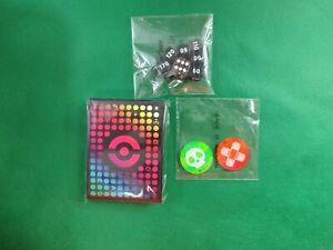 Pokemon Card TCG Pokeball Sleeves (65) Dice Damage Counters