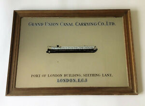 Grand Union Canal Carrying Company- Rare Vintage 1930s Advertising Mirror- Barge