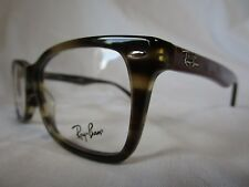 RAY BAN  EYEGLASS FRAME RX5228 5798 STRIPE HAVANA & RED 53-17-140 NEW AUTHENTIC