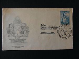 Erstagsbrief 5c Argentinien Presidente y Vice Presidente - b6976