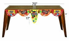 m & m  happy birthday  party decoration supplies table banner