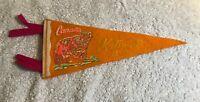 """Vintage Kitimat BC Canada Felt Pennant Flag Travel Souvenir 11"""""""