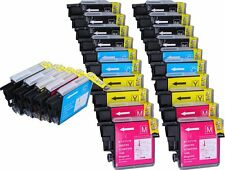 25 NON-OEM INK BROTHER LC-61 DCP-J125 MFC-250C MFC-255CW MFC-290C MFC-295CN